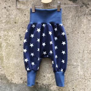 Pumphose Blau mit weissen Sternen