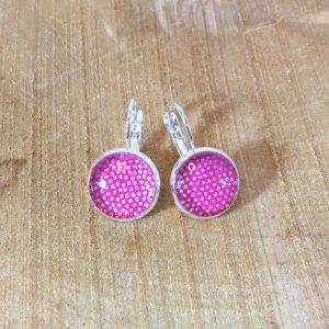 Ohrringe Hänger Silber Pink