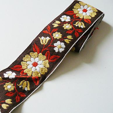 Band Braun mit Blume