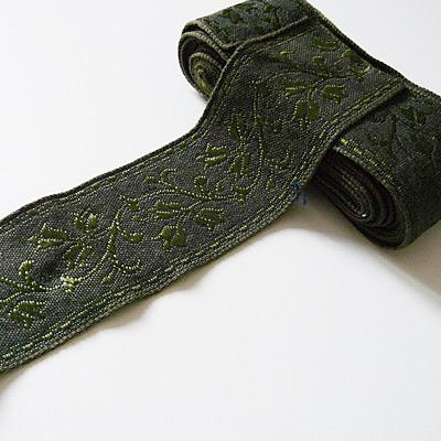 Band dunkelgrün floral