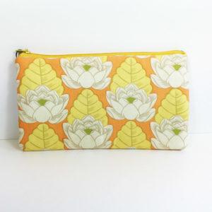 Mäppchen Retro Blume Orange