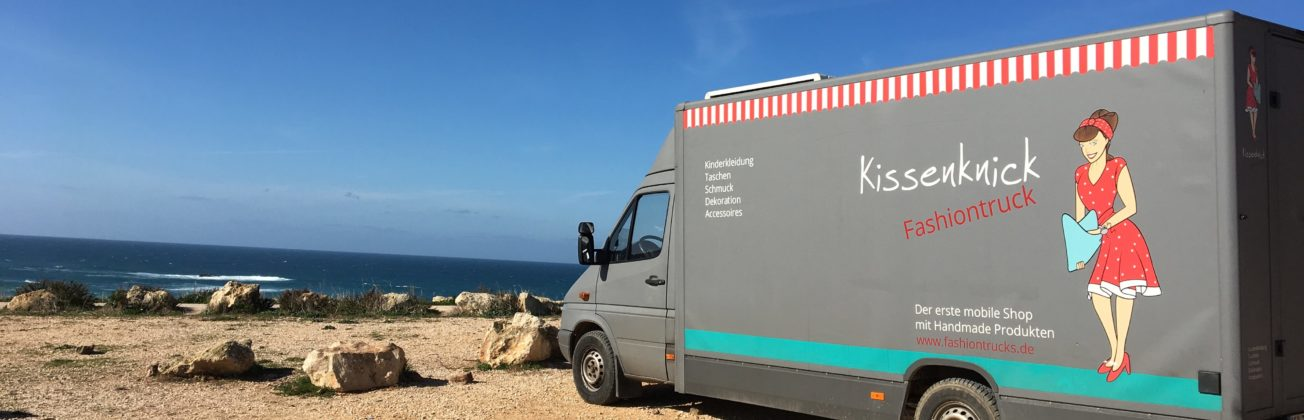 Kissenknick Fashiontruck in Portugal