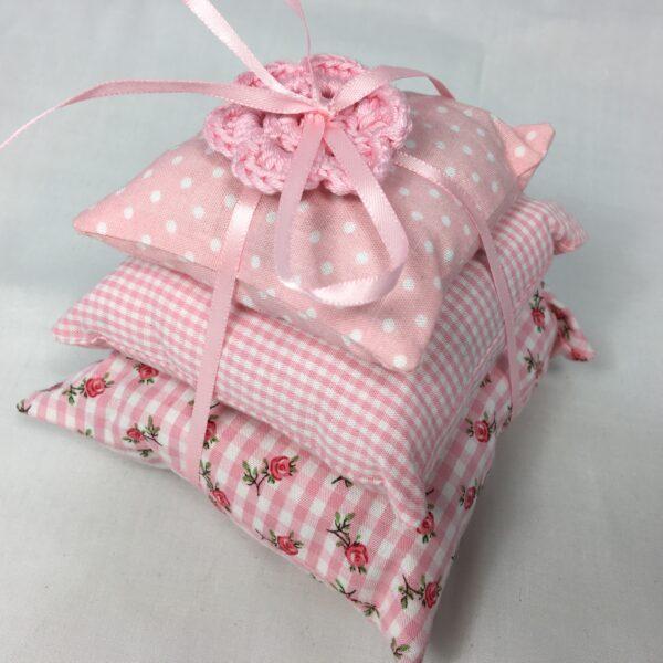 Lavendelkissen Set Vintage rosa