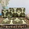 Set Taschen, Retro, Flower, grün