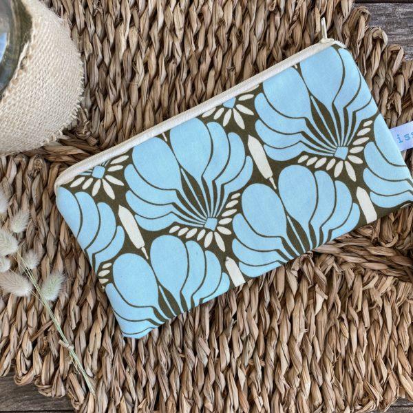 Mäppchen, Stifte, Kosmetik, Türkis, Flower